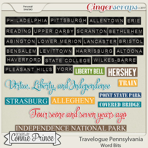 Travelogue Pennsylvania - Word Bits