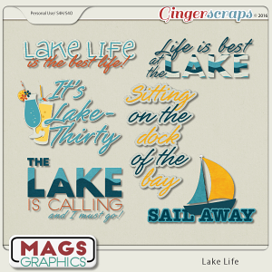 Lake Life WORD ART