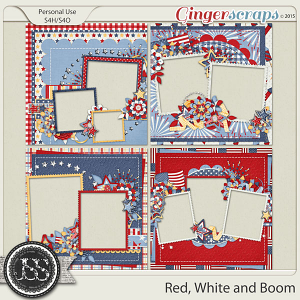 Red White and Boom Quick Pages