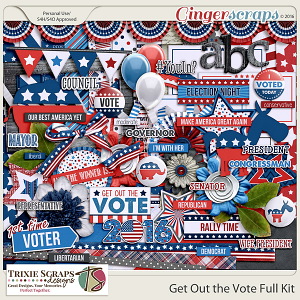 Get Out the Vote Full Kit by Trixie Scraps Designs