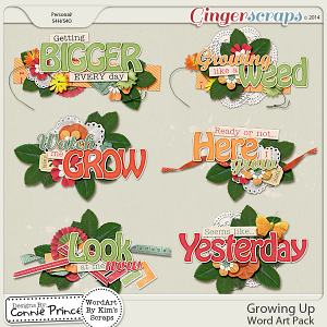 Growing Up - Word Art