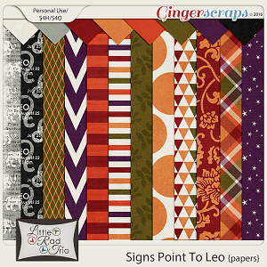 Signs Point to Leo {papers} by Little Rad Trio