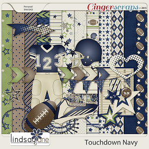Touchdown Navy by Lindsay Jane