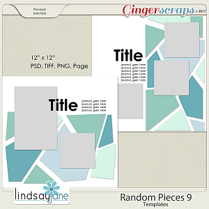 Random Pieces 9 Templates by Lindsay Jane