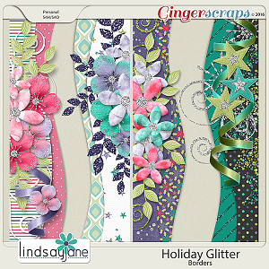 Holiday Glitter Borders by Lindsay Jane