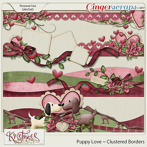 Puppy Love Clustered Borders