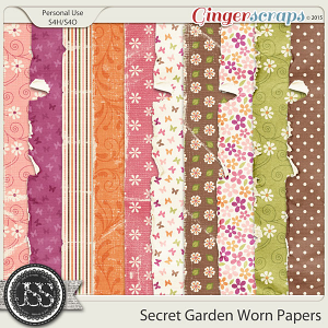 Secret Garden Worn Papers
