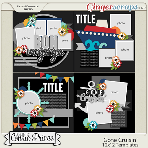 Gone Cruisin' - 12x12 Templates (CU Ok)