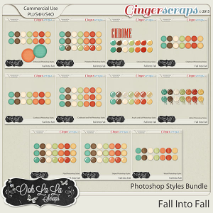 Fall Into Fall CU Photoshop Styles Bundle