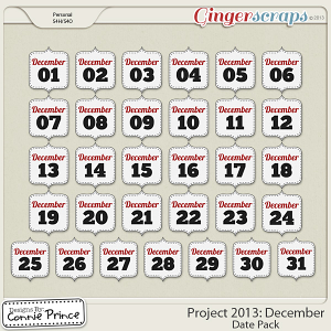 Project 2013:  December - Dates