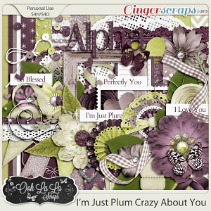 I'm Just Plum Crazy About You Digital Scrapbook Kit