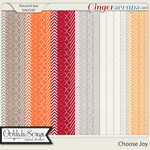 Choose Joy Pattern Papers
