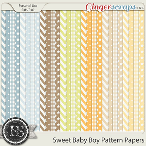 Sweet Baby Boy Pattern Papers