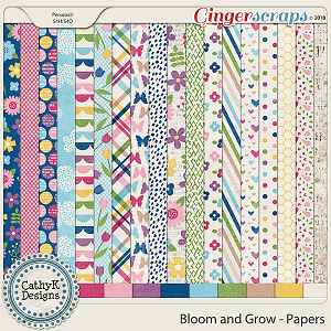 Bloom and Grow - Papers by CathyK Designs