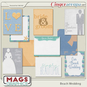Beach Wedding JOURNAL CARDS by MagsGraphics