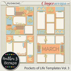 Pockets of Life TEMPLATES Vol. 3 by Heather Z Scraps