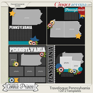 Travelogue Pennsylvania - 12x12 Temps (CU Ok)