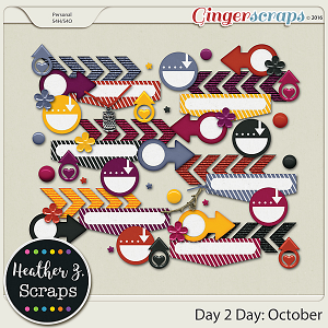 Day 2 Day: October ACCENTS by Heather Z Scraps