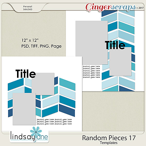 Random Pieces 17 Templates by Lindsay Jane