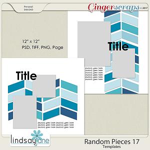 Random Pieces 17 Templates by Lindsay Jane