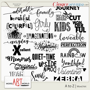 A to Z Word Art
