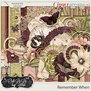 Remember When Digital Scrapbook Kit