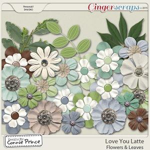 Love You Latte - Flowers & Leaves