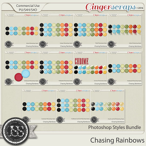 Chasing Rainbows CU Photoshop Styles Bundle