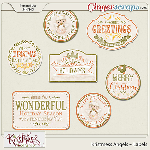 Kristmess Angels Holiday Labels