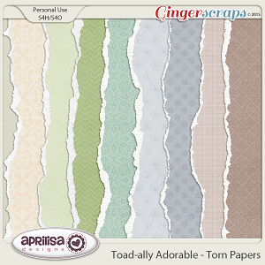 Toad-ally Adorable - Torn Papers