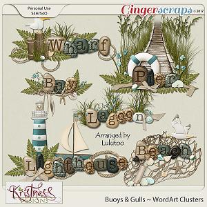 Buoys & Gulls WordArt Clusters