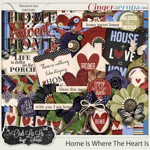 Home Is Where The Heart Is Digital Scrapbooking Kit