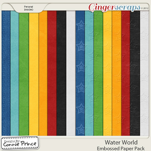Retiring Soon - Water World  - Embossed Papers