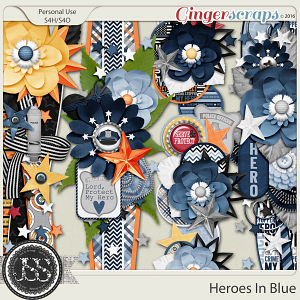 Heroes In Blue Page Borders