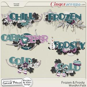 Frozen & Frosty - WordArt