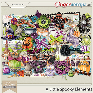 A Little Spooky Elements by JoCee Designs