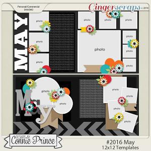 #2016 May - 12x12 Template Pack (CU Ok)