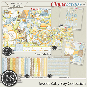 Sweet Baby Boy Digital Scrapbooking Collection