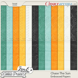 Chase The Sun - Embossed Papers