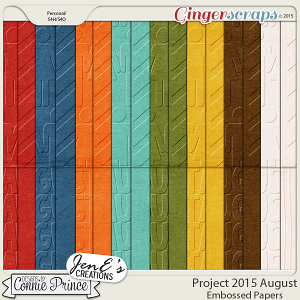 Project 2015 August - Embossed Papers