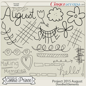 Project 2015 August - Doodled Elements