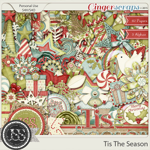 Tis The Season Digital Scrapbooking Kit