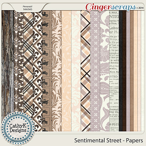 Sentimental Street Papers: by CathyK Designs