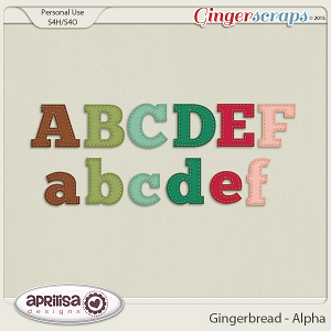 Gingerbread - Alpha by Aprilisa Designs