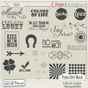 Project 2014 March: Life In Color - Stamped Bits