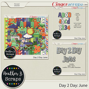 Day 2 Day: June BUNDLE by Heather Z Scraps