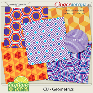 CU Geometrics Layered Paper Templates