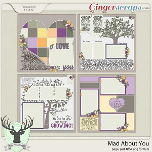 Mad About You: February 2018 Buffet Templates by Dear Friends Designs
