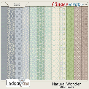 Natural Wonder Pattern Papers by Lindsay Jane