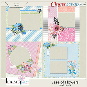 Vase of Flowers Quick Pages by Lindsay Jane